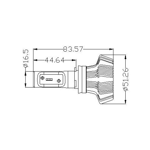 Набор светодиодного головного света UP-7HL-H16W-4000Lm (H16, 4000 лм, холодный белый) Превью 4