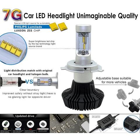 Набор светодиодного головного света UP-7HL-H8W-4000Lm (H8, 4000 лм, холодный белый) Превью 2
