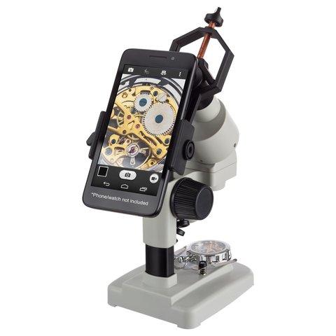 Портативний стереомікроскоп AmScope SE120Z-TMD з тримачем для смартфона Прев'ю 1